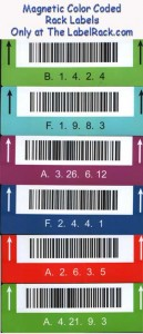 Magnetic Rack labels